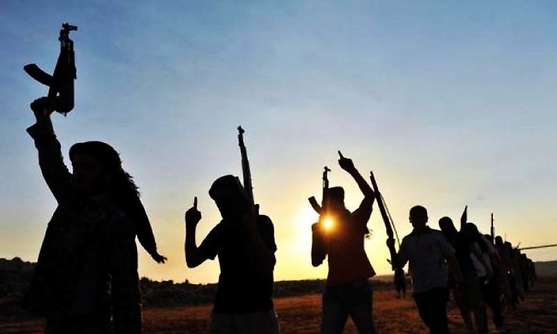 Militants could be seen in this representative photo. — AFP/File