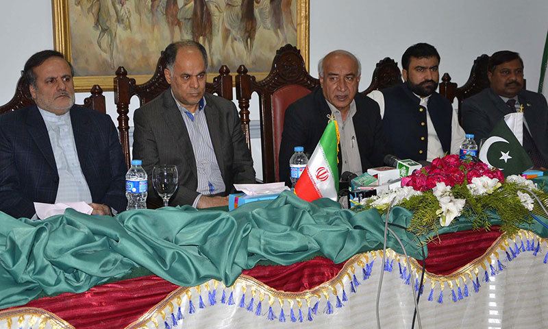 Balochistan Chief Minister Dr Abdul Malik Baloch along with Governor of Sistan Balochistan Ali Osat Hashmi while addressing a press conference in Quetta. –INP Photo
