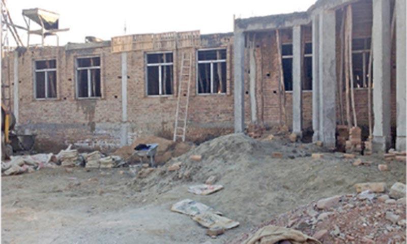 The under construction school in Pashtun Garhi area of Peshawar. —Dawn
