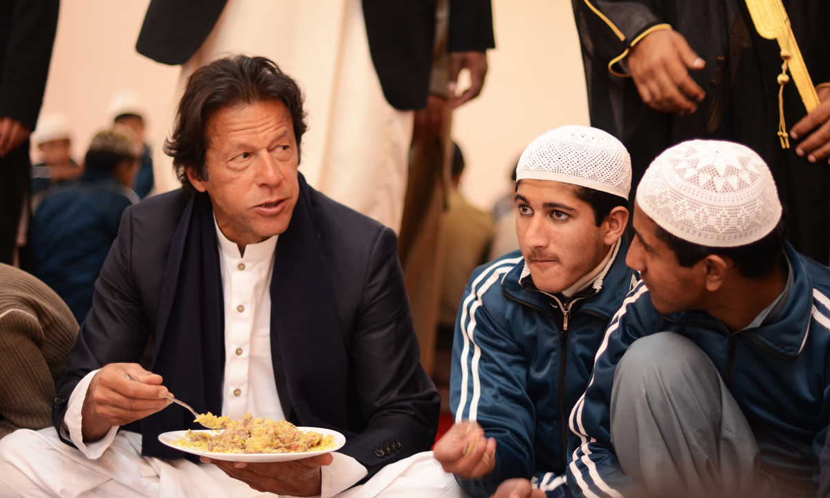 Imran had decided against having a grand Valima ceremony and chose to distribute food to less privileged  children— Photo by Belal Khan