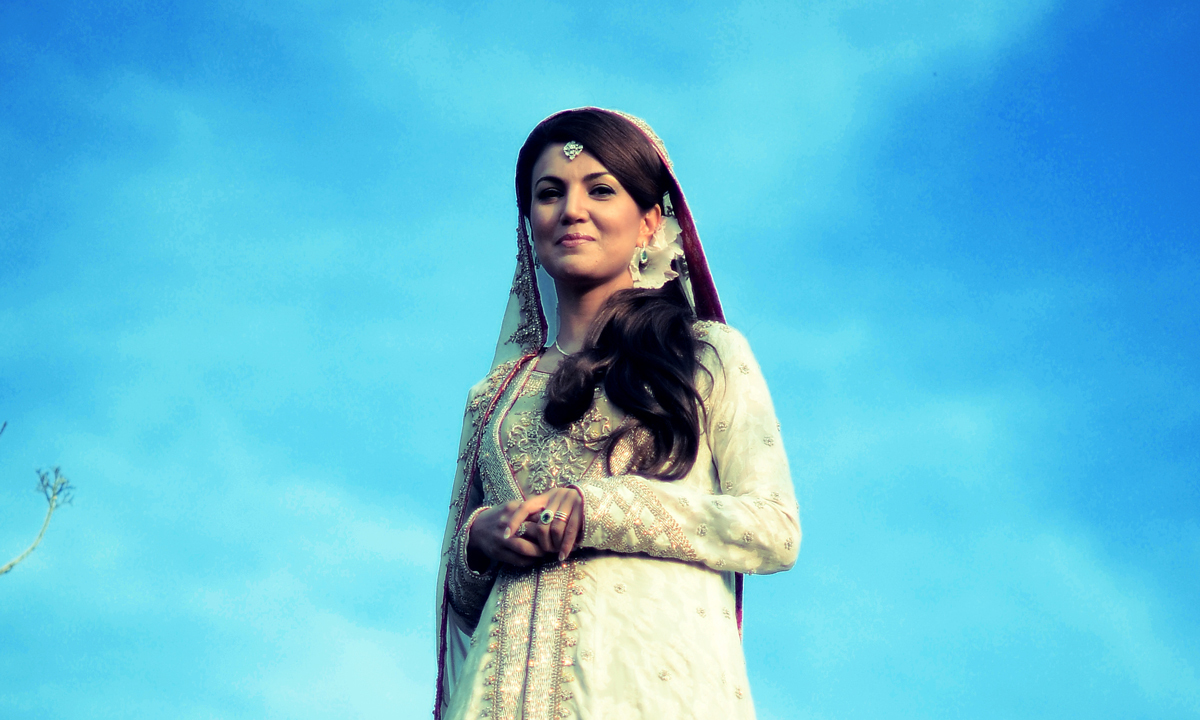 Reham Khan's photo shoot after the wedding ceremony.— Photo by Belal Khan