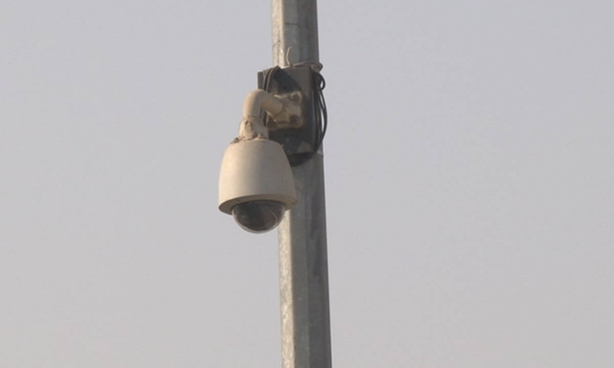 Cameras have been placed outside the school.  — Zahir Shah Sherazi