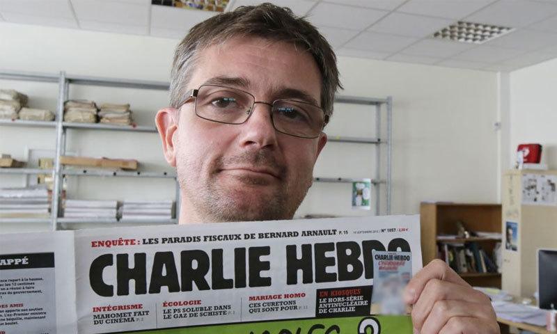 چارلی ہبیڈو کے کارٹونسٹ اور سابق ایڈیٹر چارب جو کہ 7  جنوری کو حملے میں مارے گئے ۔ ۔ ۔ فائل فوٹو : اے پی
