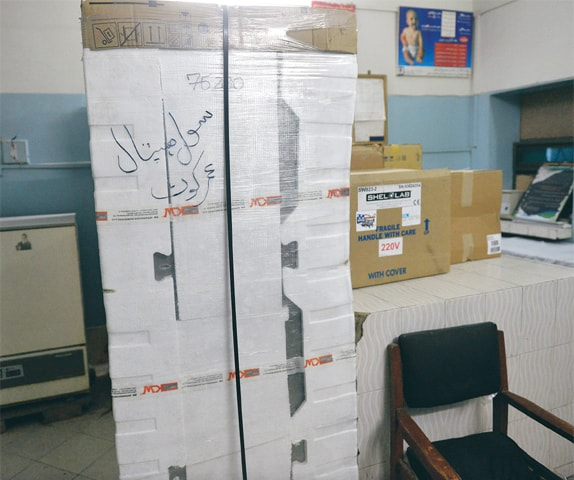The 'functioning' blood laboratory in Umerkot District Headquarter Hospital