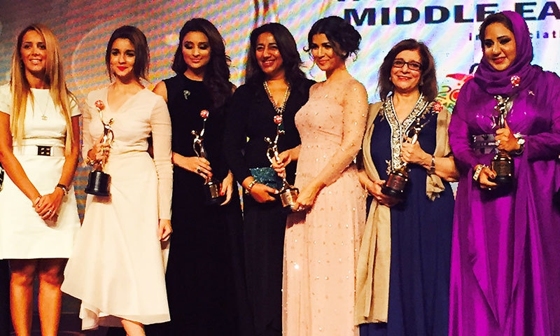 Sultana Siddiqui (second from right) with the other winners. – Courtesy photo