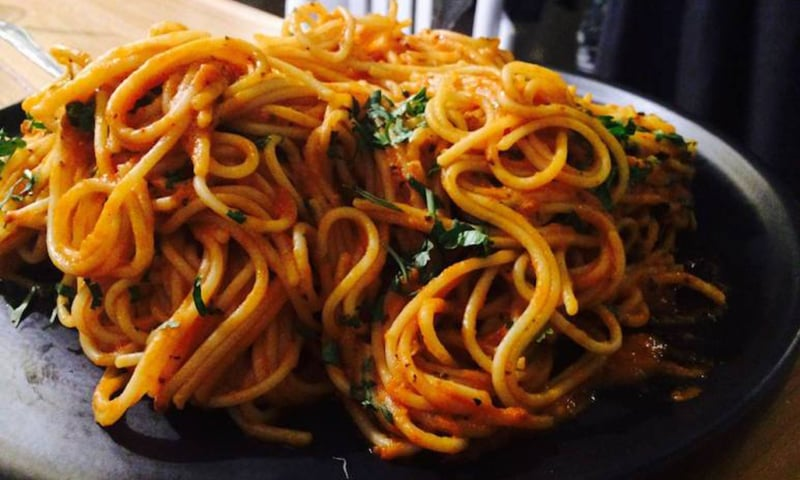 Spaghetti at Arammish.—Photo by author