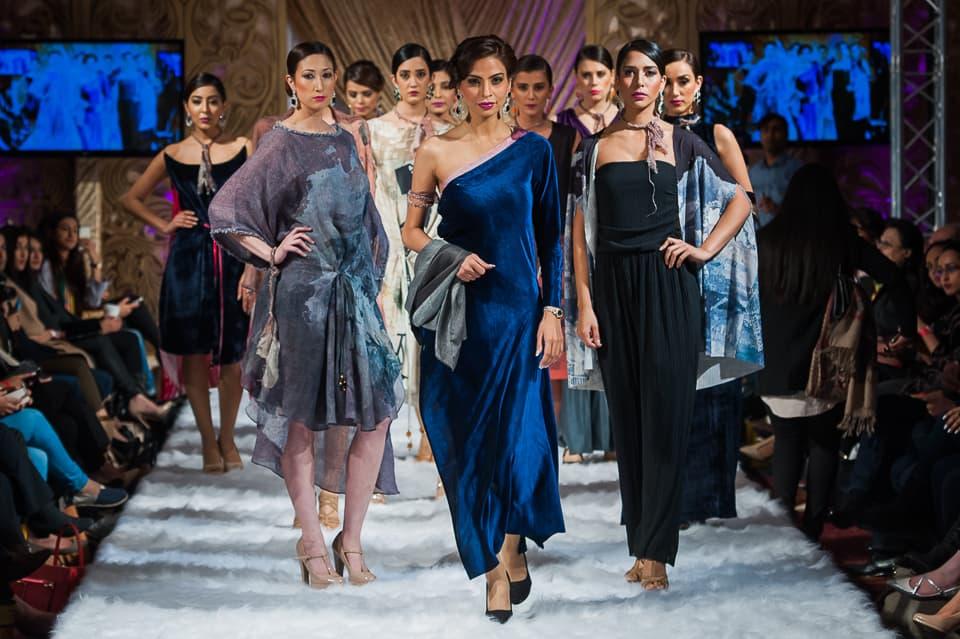Fauzia Aman closes the show for Sonya Battla.