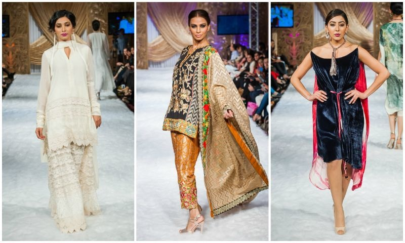 66ff84474f Only a handful of prominent designers showcased their collections such as  Honey Waqar and Sonya Battla