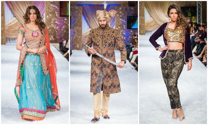 A variety of occasion wear was spotted on the runway.