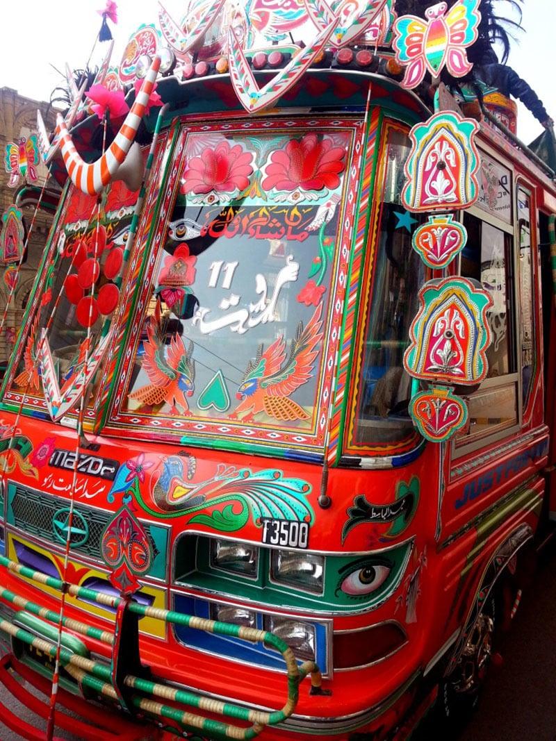 'Marwat Coach' was our Super Karachi Express Minibus