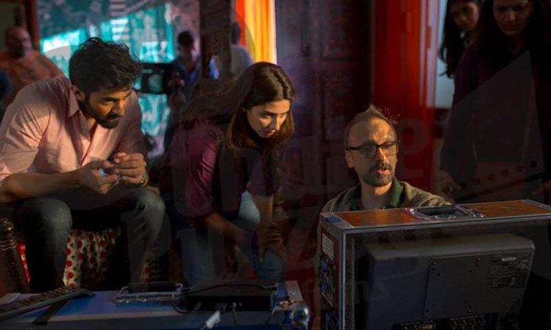 Mahira Khan during the shoot of 'Ho Mann Jahaan'. – Photo credit: reviewit.pk
