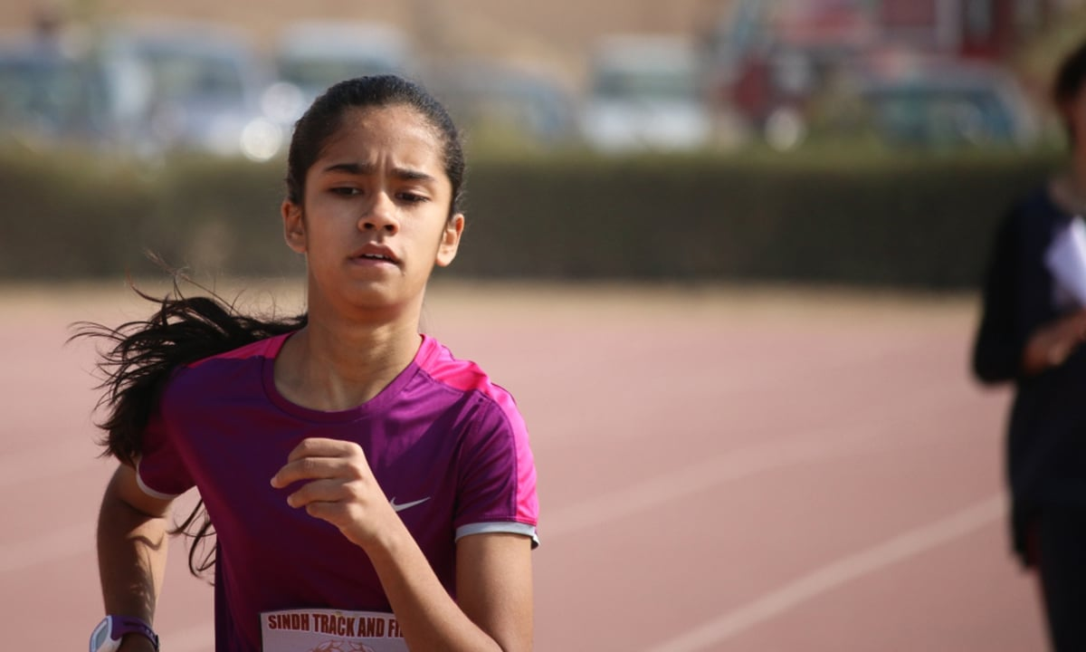 13-year-old Reyna Adam does a 800m, 400m double.— Courtesy Photo