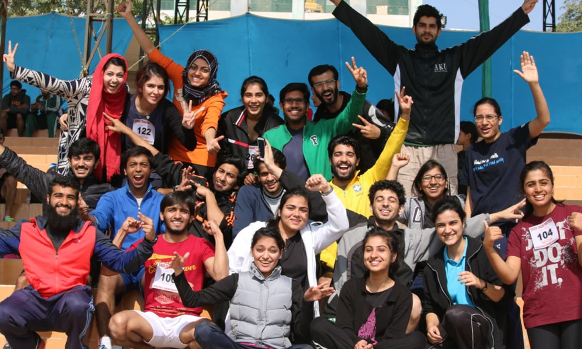 Aga Khan University's winning team.— Courtesy Photo