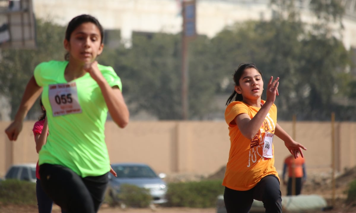 During the 100m under-16 sprint.— Courtesy Photo