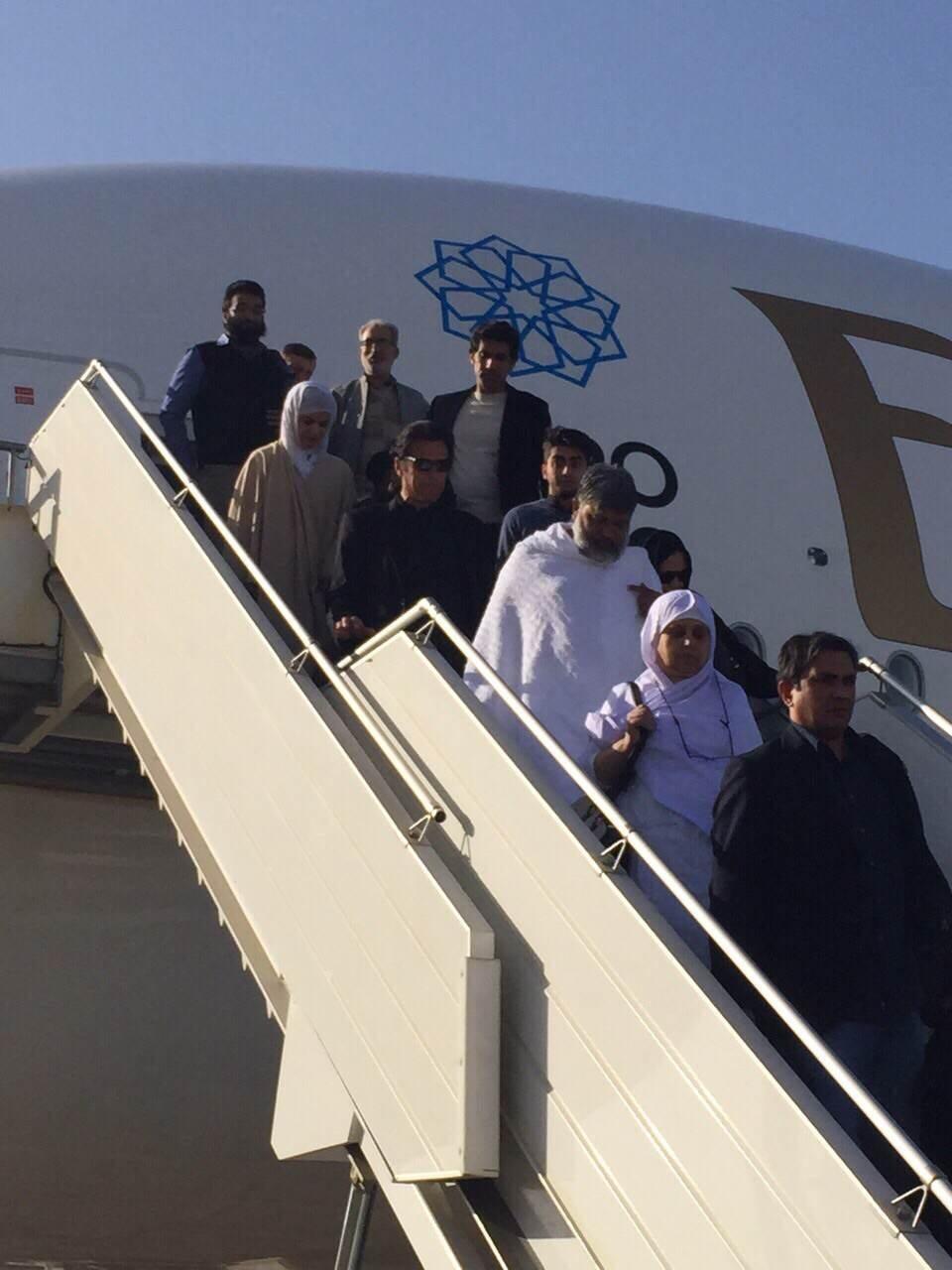 Imran and Reham Khan land in Saudi Arabia - PTI social media