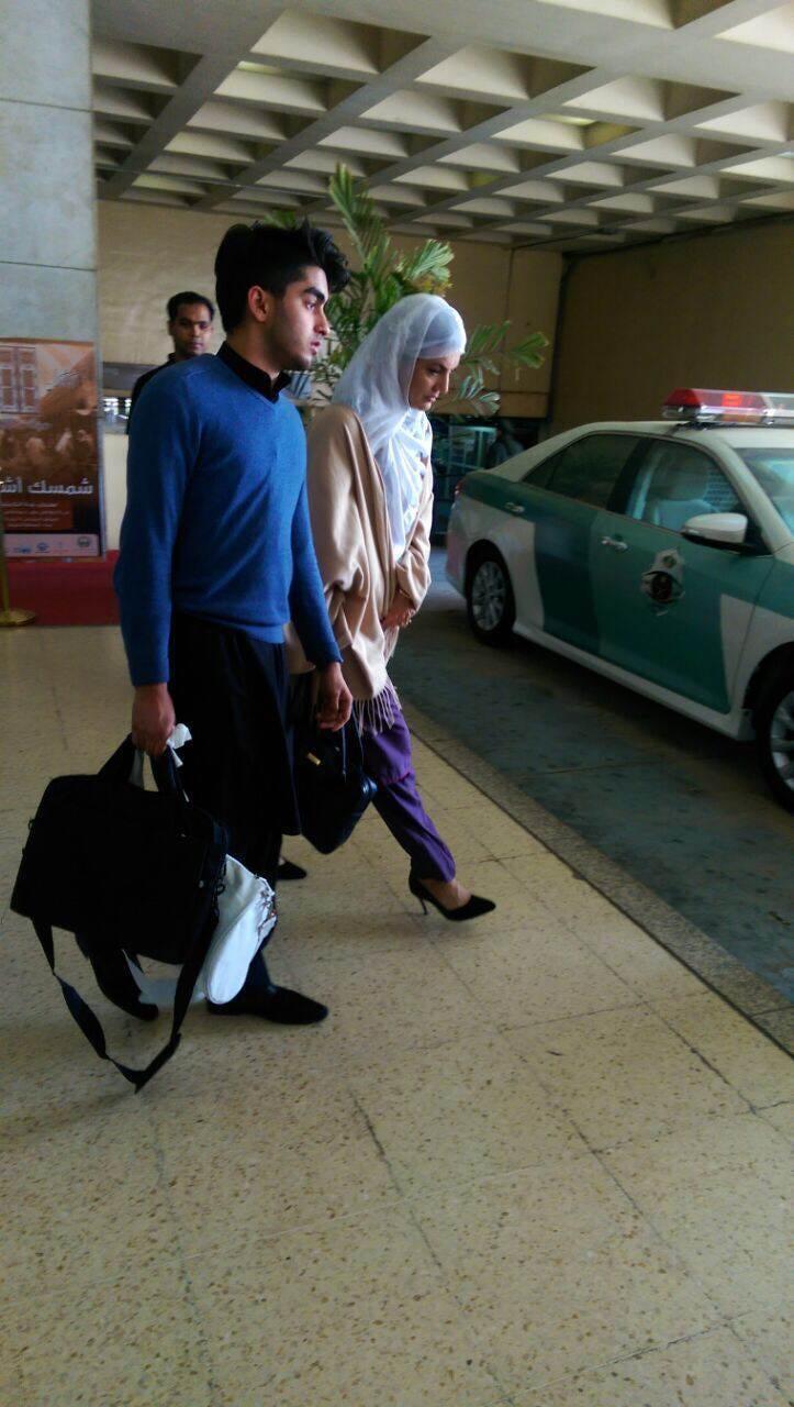 Reham Khan leaving the airport - PTI social media