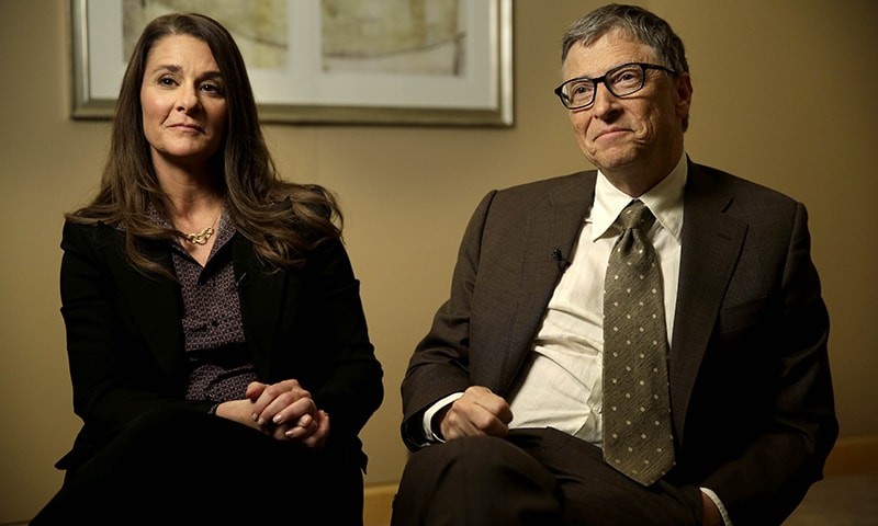 Bill and Melinda Gates are interviewed in New York, Wednesday, Jan. 21, 2015. — AP