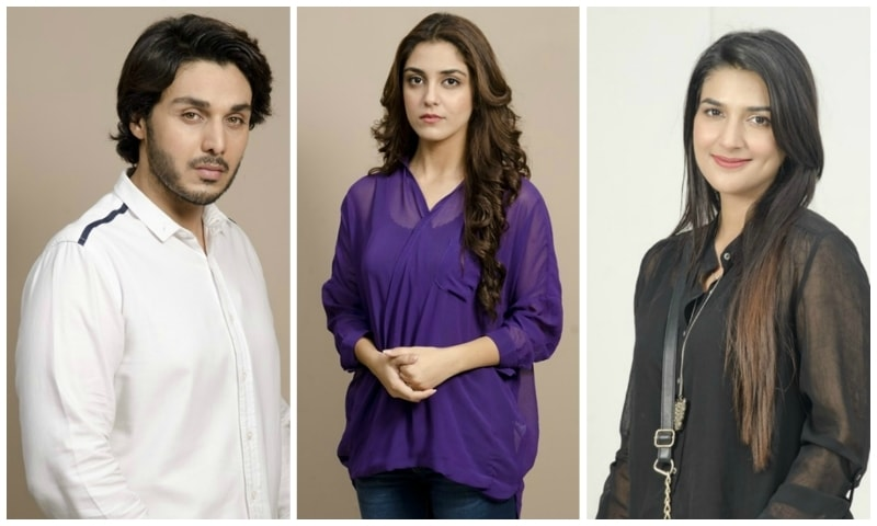 Ahsan Khan, Maya Ali and Rubab Hashim in 'Zid.'— Photo Courtesy: HUM TV's website.