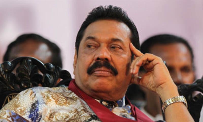 Former Sri Lankan president Mahinda Rajapaksa. Photo by: AP/Sanka Gayashan