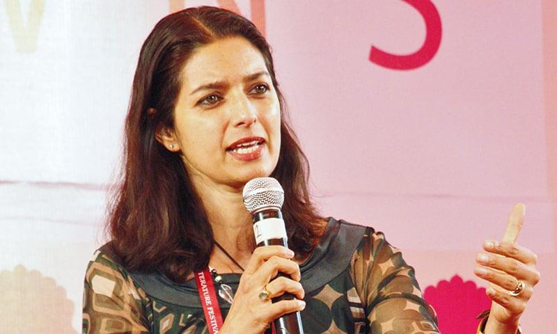 Jhumpa Lahiri speaks at Jaipur Literature Festival. — Photo courtesy: Arabic Zeal / arabiczeal.com