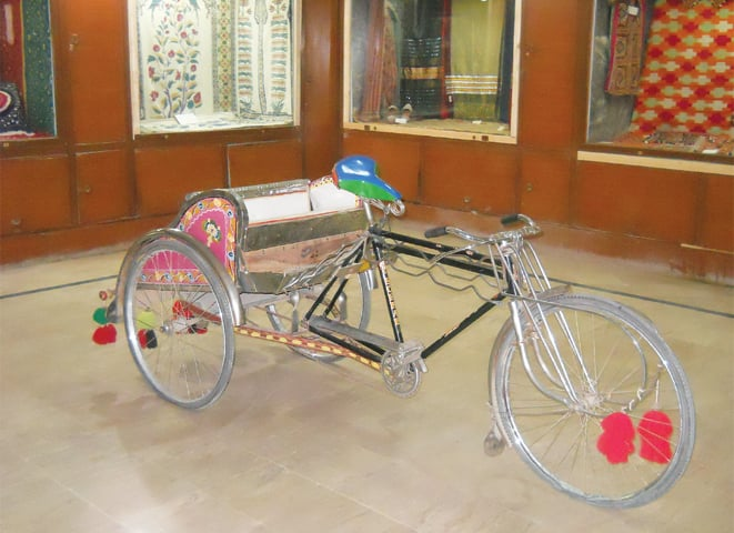 Cycle rickshaw on display in the museum,Photos by the writer