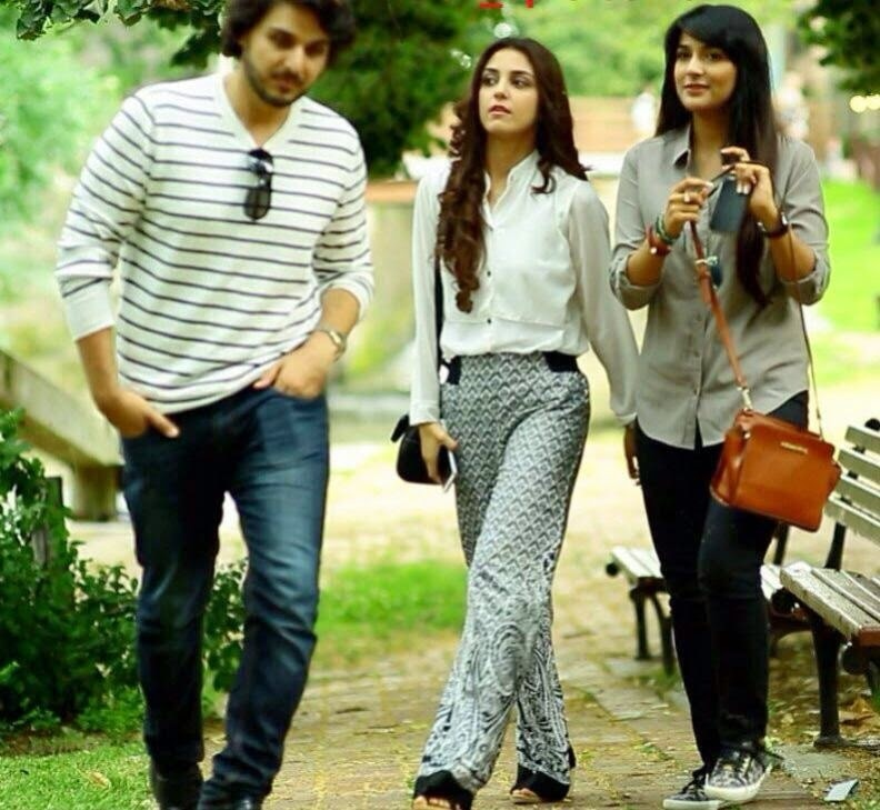 Ahsan Khan, Maya Ali and Rubab Hashim in 'Zid.'— Photo Courtesy:dramaindustry.pk