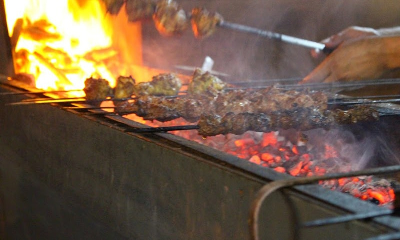 The dhaba starts serving BBQ items in the evening.