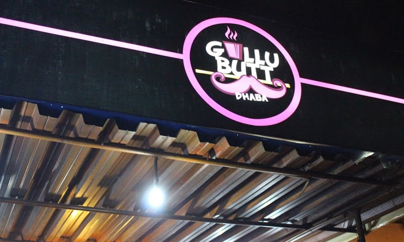 The Gullu Butt Dhaba's pink sign became very popular on social media.