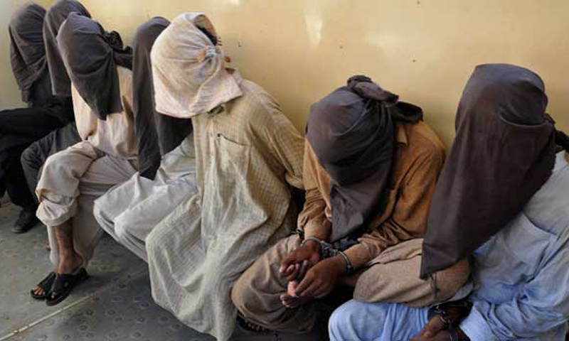 A view of detained persons held at an undisclosed location in Pakistan. - Reuters/file