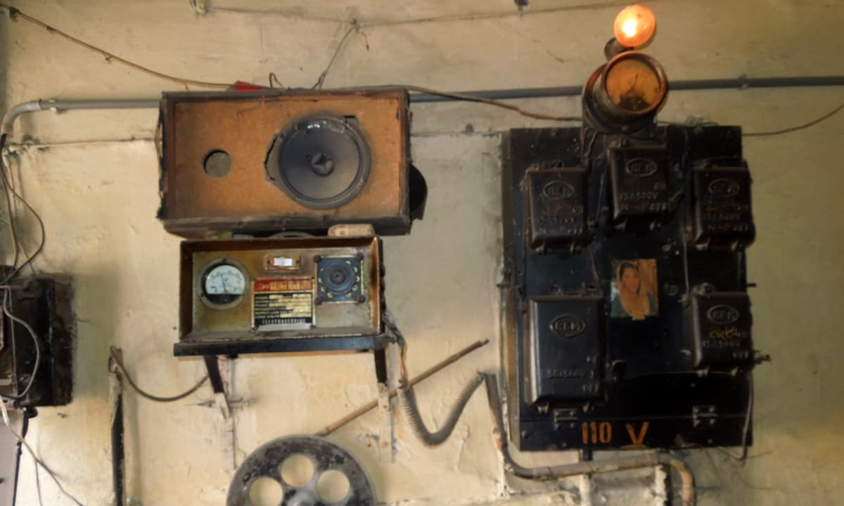 The sound system and electric equipment which are over half a century old. — Photo by Shiraz Hassan