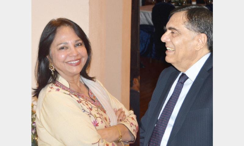 Perveen Malik of the Asian Study Group and Irshadullah Khan of the Oxbridge Society.