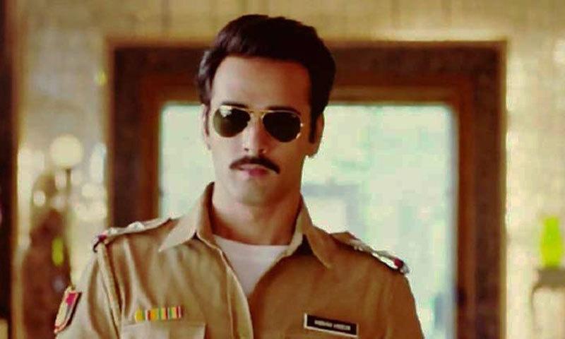 Pulkit Samraat as the no-nonsense policeman in 'Dolly Ki Doli'— Photo Courtesy: The Indian Express