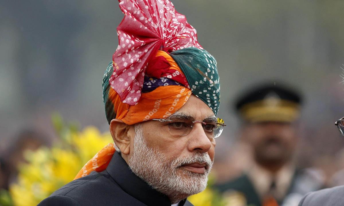 Prime Minister Narendra Modi attends the Republic Day parade in New Delhi January 26, 2015.  — Reuters