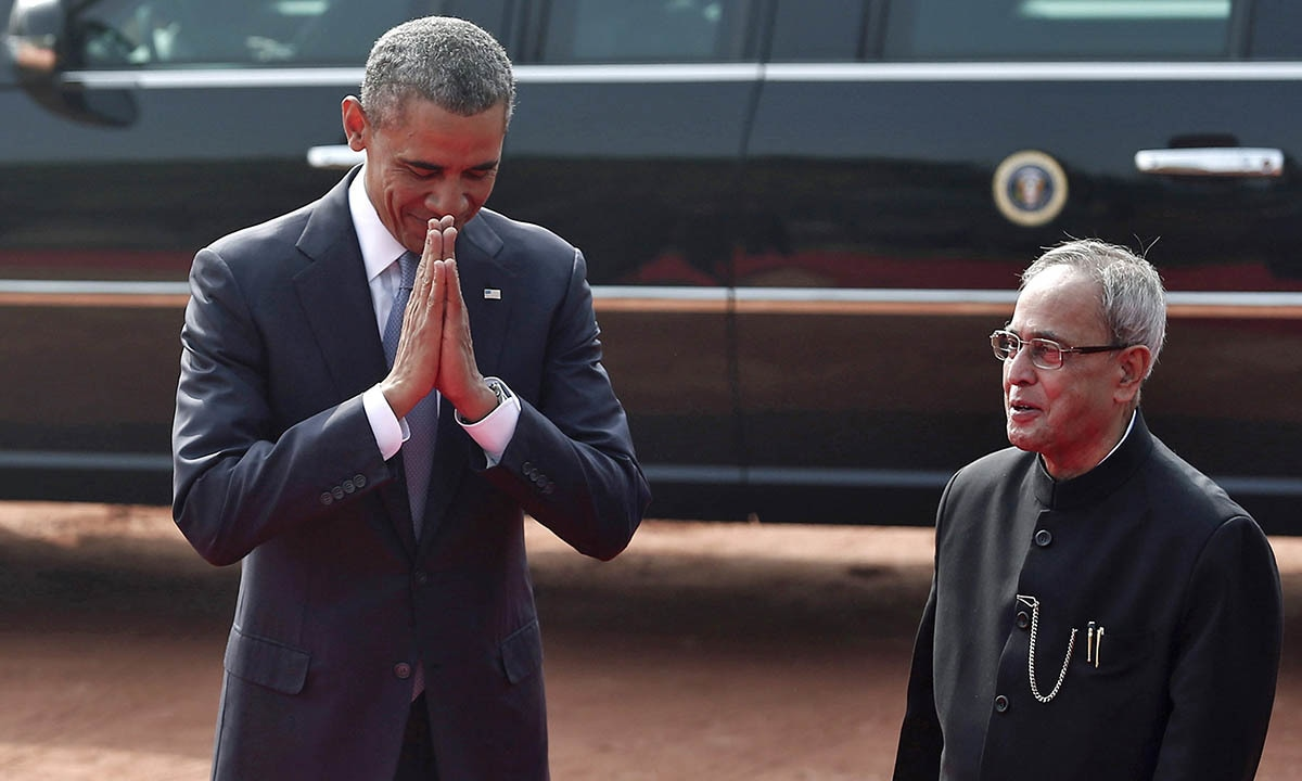 Obama039s Visit To India Of Handshakes And Hugs World Dawn