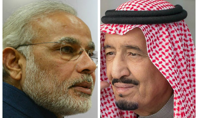 Indian Prime Minister Narendra Modi and Saudi Arabia King Salman. — AFP