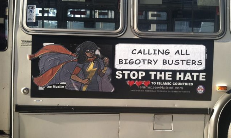 Capture of a revamped ad on a bus in San Francisco. Source: ToyBox
