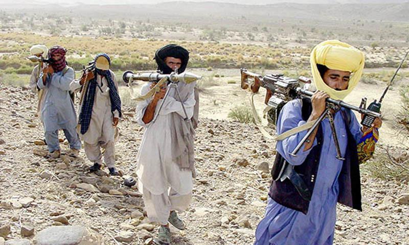 مسلح بلوچ افراد—۔فائل فوٹو/ اے ایف پی