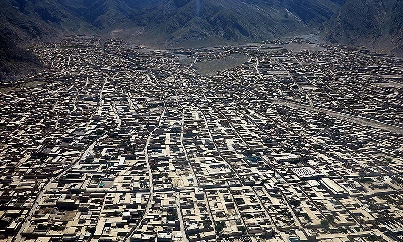 A bird eye view of Quetta. — INP/file