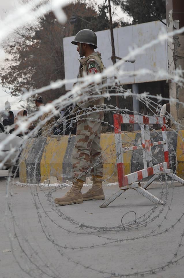 Provincial government ensured maximum security during LB polls. — Photo: Hafeez Sherani