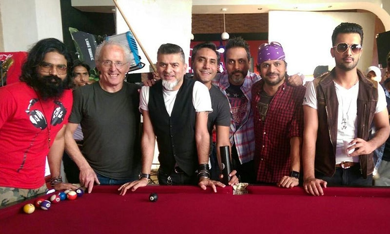 The team behind the World Cup song, 'Phir Se Game Utha Dain'. – Twitter