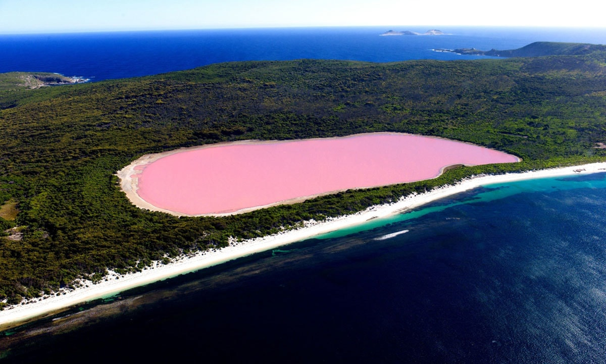 Pink Lake of Senegal