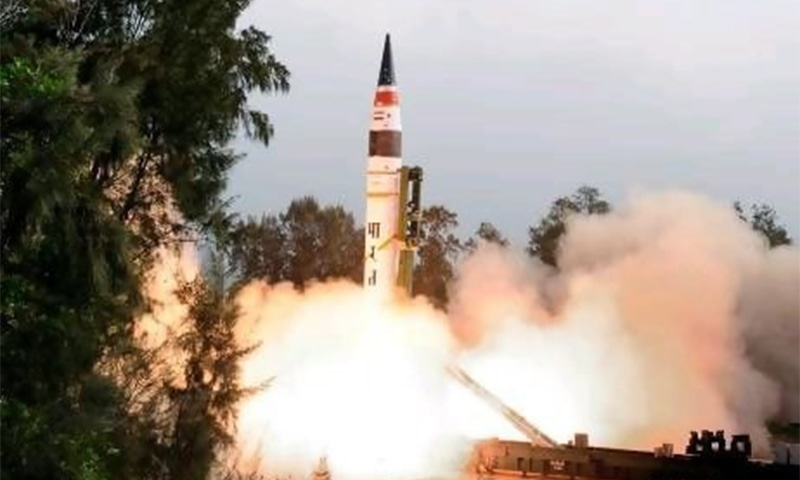 India tests long-range missile from mobile launcher