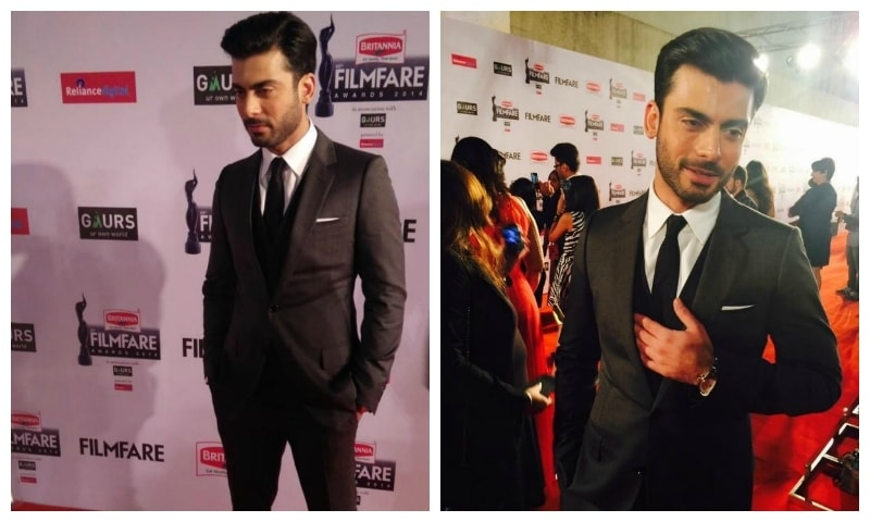 Fawad Khan at the 60th Filmfare Awards where he received the Filmfare award for Best Male Debut. — Photo Courtesy: Pinkvilla
