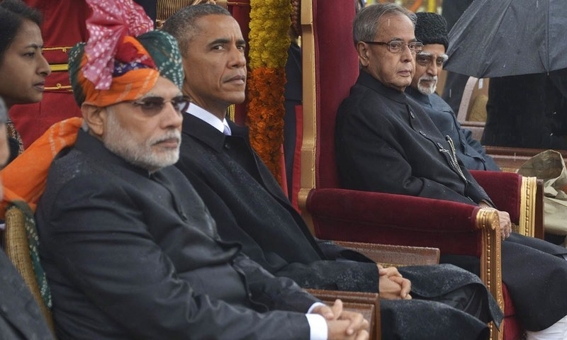 India's Prime Minister Narendra Modi (L-R), US President Barack Obama.—Reuters/File