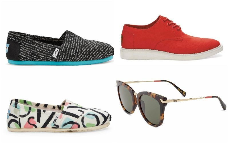 Fashion meets comfort with Toms.