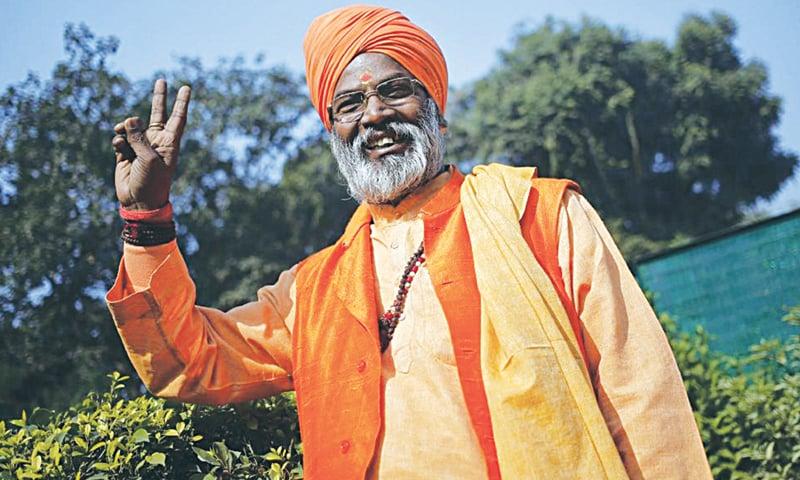 Priest-turned-politician Sakshi Maharaj.—Reuters