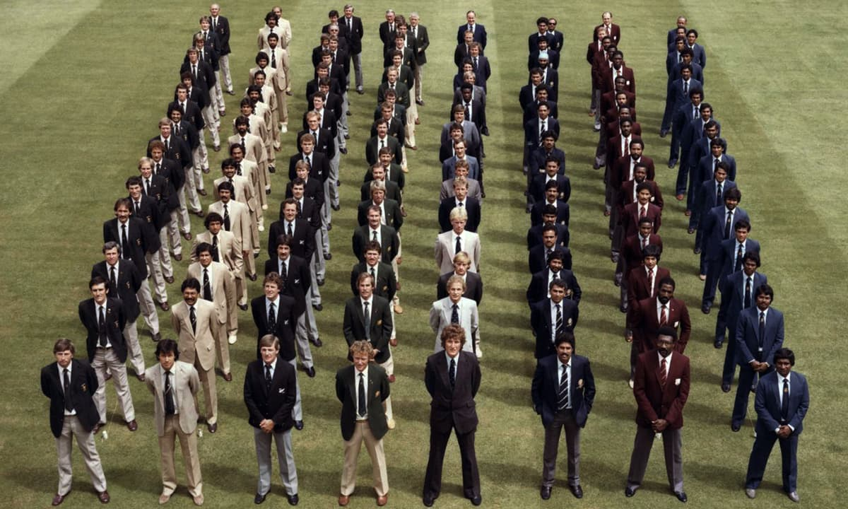 Teams lined up ahead of 1979 World Cup. — Courtesy photo