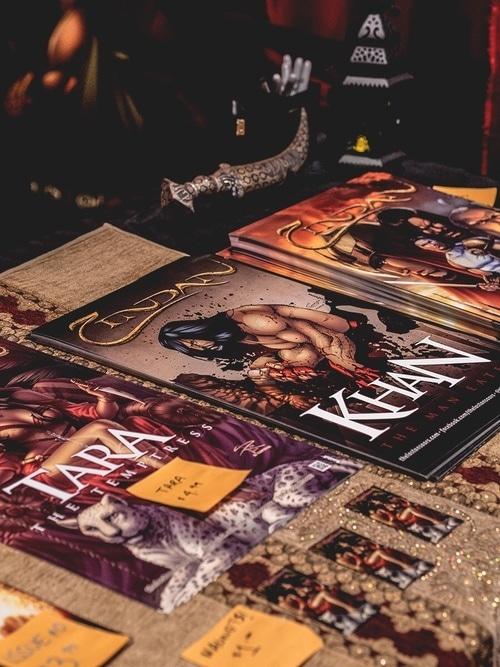Zindan comic books are vivid and eye-catching.