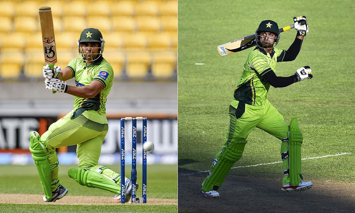 Believe it or not Umar Akmal (r) and Mohammad Hafeez (r) have been done more good than bad.—AFP