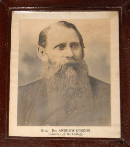 The college's founder, Rev Dr Andrew Gordon.